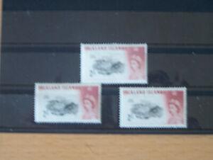 FALKLAND ISLANDS,1960,2/-,X 3,MM,CAT £96,EXCELLENT.