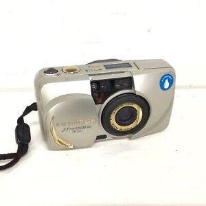 Olympus μ mju Zoom 140 Deluxe Gold 35mm Film Camera #563