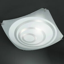 Honsel Plafoniera 3 Bracci Vetro Cromo Raso Decorazione Corridoio Cucina Dormire