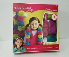 AMERICAN GIRL CRAFTS Pom-Pom Scarves Create 2 One For You And One For Your Doll