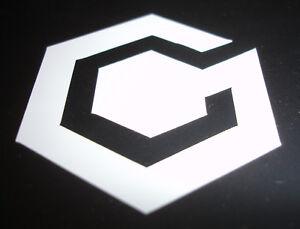 Nintendo game cube sticker (WHITE) - 55x50mm - mario, gamecube, GC, decal,