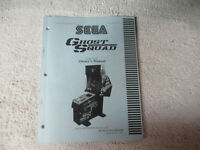 GHOST SQUAD U/R SEGA    original arcade game machine  manual