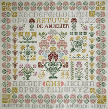 Dutch Completed Cross Stitch Sampler Holland Jan Houtman De Anjelier
