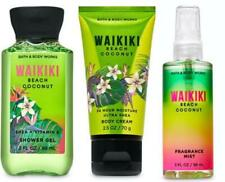Bath Body Works WAIKIKI BEACH COCONUT Shower Gel Cream Fragrance Mist GIFT SET