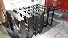 """Industrial Steel Table Legs. """"Powder Coated"""" Or Raw. Made To Order Any Colour."""