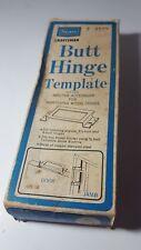 VINTAGE SEARS CRAFTSMAN BUTT HINGE TEMPLATE 9-2575