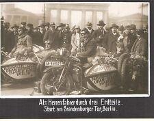 FOTO 20ER JAHRE HERRENFAHRER 3 ERDTEILE BERLIN BRANDENBURGER TOR DKW ZSW 500