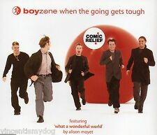BOYZONE - WHEN THE GOING GETS TOUGH (3 track CD single)