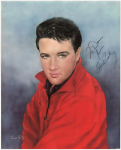 Elvis Presley signed autographed 16x20 lithograph! RARE! Consola! Authentic!