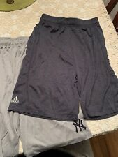 TWO ADIDAS SHORTS NY YANKEES MLB LOGO BOYS ACTIVE XL BASKETBALL BLUE & GREY
