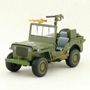1:24 Willys WW II Jeep Military Vehicle Model Car Toy Vehicle Pull Back Gift
