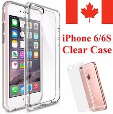 For iPhone 6S & iPhone 6 Case - Clear Thin Soft TPU Silicone Back Cover 4.7""