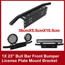 23'' Bull Bar Front Bumper License Plate Mount Bracket Offroad LED Light Holder