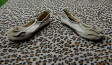 Top shop Leather flats with flower shaped decoration detail UK size 7.5 EU 41