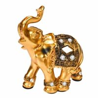 Golden Elephant Ornaments Exquisite Soft Resin Gifts Home Accessories Craft