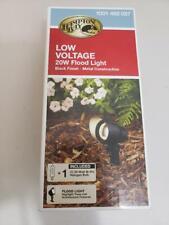 New listing Low-Voltage 20-Watt (Bi-Pin) Black Outdoor Landscape Flood Light - Open Box - C