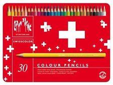 Caran D'ache Swisscolor Water Soluble Colour Pencils In Metal Tin Box Set of 30