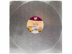 Queen Of Cakes Assorted Cake Boards Twin Pack Round and Square board
