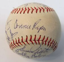 1958 SEATTLE RAINIERS PCL team signed autographed BASEBALL 20 Signatures