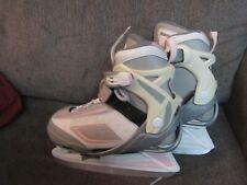 Bladerunner Dazzle Ice Skates Pink Grey Youth Size Adjustable 1-4