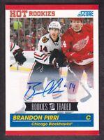 2010-11 Score Signatures #651 Brandon Pirri Auto Chicago Blackhawks