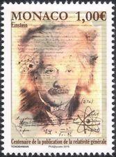 Mónaco 2015 un Einstein/científicos/espacio/ciencia/matemática/personas 1v (mc1026)