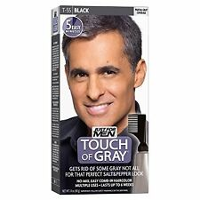 4 Pack - JUST FOR MEN Touch of Gray Hair Treatment T-55 Black 1 Each