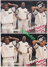 "(2)1994-95 STADIUM SUPER TEAM CONF WINNER #19: SHAQUILLE O'NEAL""SHAQ"" INSERT LOT"