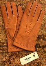 NWT Hestra Mens Matthew Corded Leather Gloves Merino Wool Cork Brown Size 8 $130