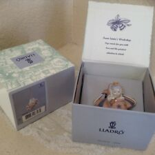 Lladro Little Aviator Ornament Santa's Workshop w/ original box Euc