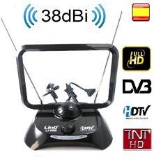 Antena para tv televisor FULL HD UHF 38 DBi TV TDT DVB-T FILTRO LTE ACTIVA