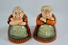 ROYAL DOULTON SALT & PEPPER POTS - VOTES FOR WOMEN, TOIL FOR MEN