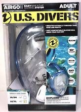 Airgo U.S. Divers Full Face Snorkel System Mask Adult LG/XL Easy Breathe Snorkel
