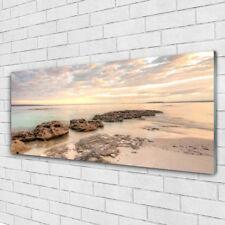 Acrylglasbilder Wandbilder aus Plexiglas® 125x50 Meer Steine Landschaft