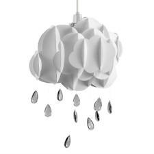 Bedroom Baby Nursery Cloud Rain Drops Pendant Lamp Light Shade Lampshade