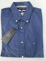 Tommy Hilfiger Hemd indigo THSS503 Größe S stretch slim fit NEU