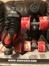 Rock Roller Skates Size 8 In Great Condition With Red Twister Wheels
