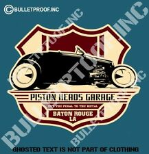 PISTON HEADS GARAGE Decal Sticker Americana Car Rat Rod Hot Rod Mancave Stickers