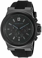 Michael Kors Dylan Black Dial SS Silicone Chronograph Quartz Men's Watch MK8152