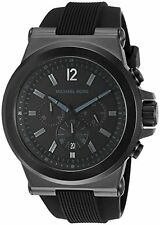 Michael Kors Dylan Black Dial SS Silicone Chronograph Quartz Men's Watch MK8152