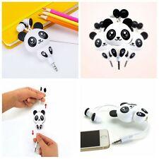 Cute Mobile Phone Headset Cartoon Panda Design Earphone Retractable Headphone