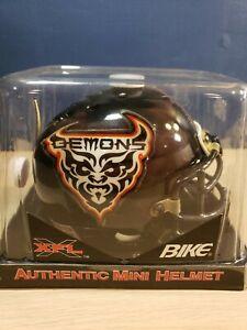 Vintage SAN FRANCISCO DEMONS XFL BIKE Authentic mini helmet New in package 2000