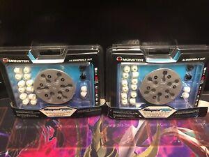 2 New Monster Gel SuperTips Noise Reduction EarTips Audiophile Kit Size ~ SM 🎧