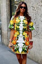 Stella McCartney Vestido Estampado De Limón UK10-12 IT42 Nuevo