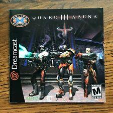 Quake III Arena 3 Sega Dreamcast Instruction Manual Only