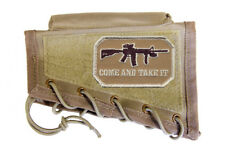 Tan Cheek Rest Stock Riser + Come And Take It Patch Fits Savage 11 110 12 22 64