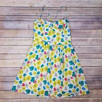 American Eagle Outfitters Womens Yellow Floral Sun Dress Size 10