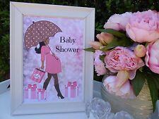 Wall Art, A4 Poster, Girl Baby Shower - Handmade