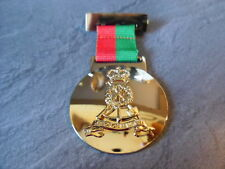 Gold plate Pioneer Medal on Red and Green Ribbon, Blackpool tower, 23, 160, RPC