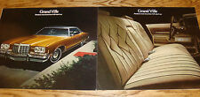 Original 1973 1974 Pontiac Grand Ville Sales Brochure Lot of 2 73 74